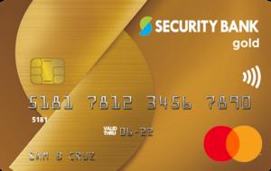 Security Bank Mastercard Gold