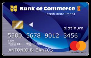 Bank of Commerce Cash Installment Card
