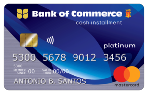 Bank of Commerce - Bank of Commerce Cash Installment Card