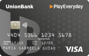 UnionBank PlayEveryday Visa Card