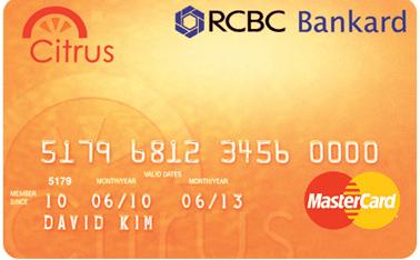RCBC Bankard Citrus Mastercard