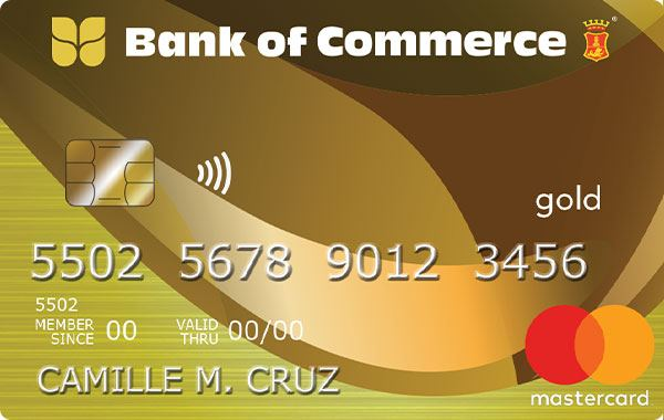 Bank of Commerce Mastercard Gold