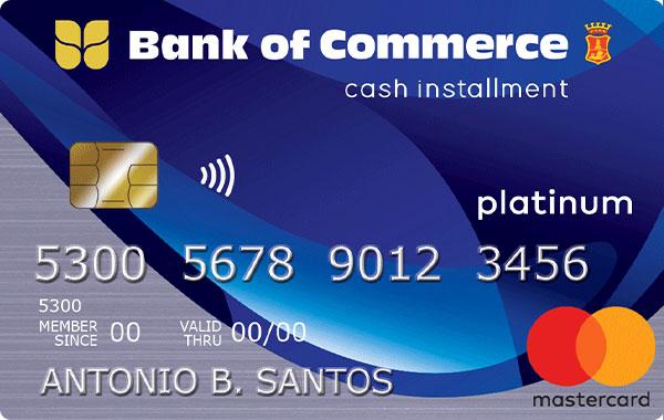 Bank of Commerce - Bank of Commerce Cash Installment Card