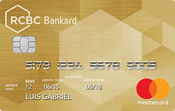 RCBC - RCBC Bankard Gold Card