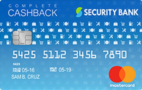 Security Bank Complete Cashback