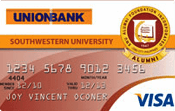 UnionBank Southwestern University Alumni Foundation Visa Card