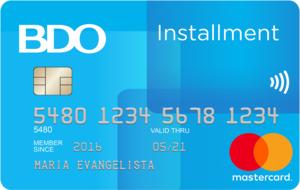 BDO Installment Card